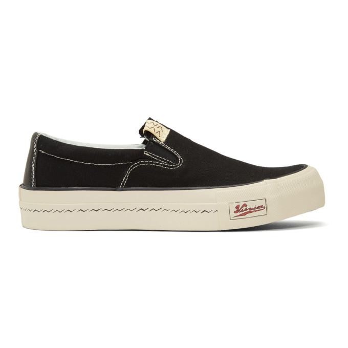 Photo: Visvim Black Skagway Slip-On Sneakers