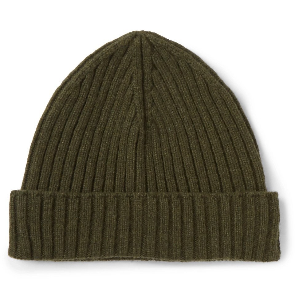 Photo: Officine Generale - Ribbed Cashmere Beanie - Men - Green