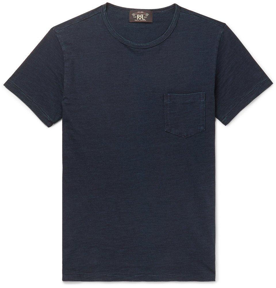 RRL - Slim-Fit Cotton-Jersey T-Shirt - Men - Blue