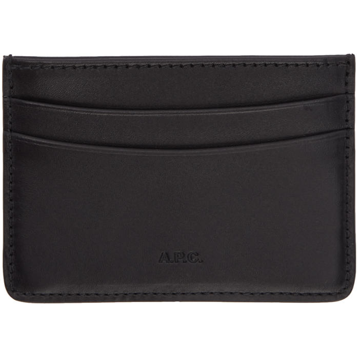 Photo: A.P.C. Navy Andre Card Holder