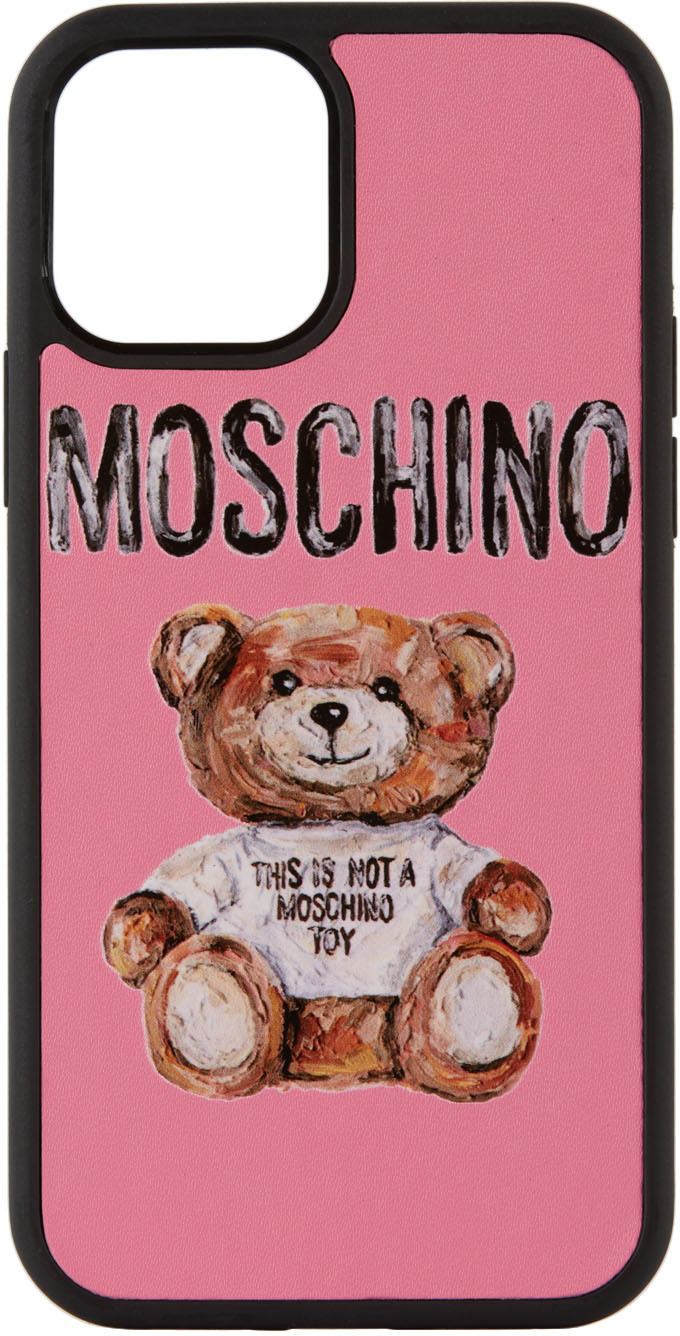 Photo: Moschino Pink 'Not A Toy' iPhone 12/12 Pro Case