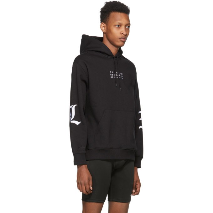 032c Black Embroidered Ideal Hoodie