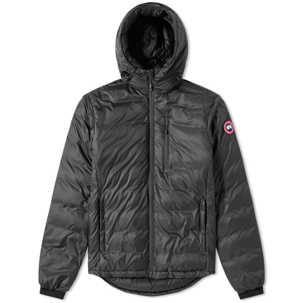Photo: Canada Goose Lodge Hooded Jacket Graphite & Black