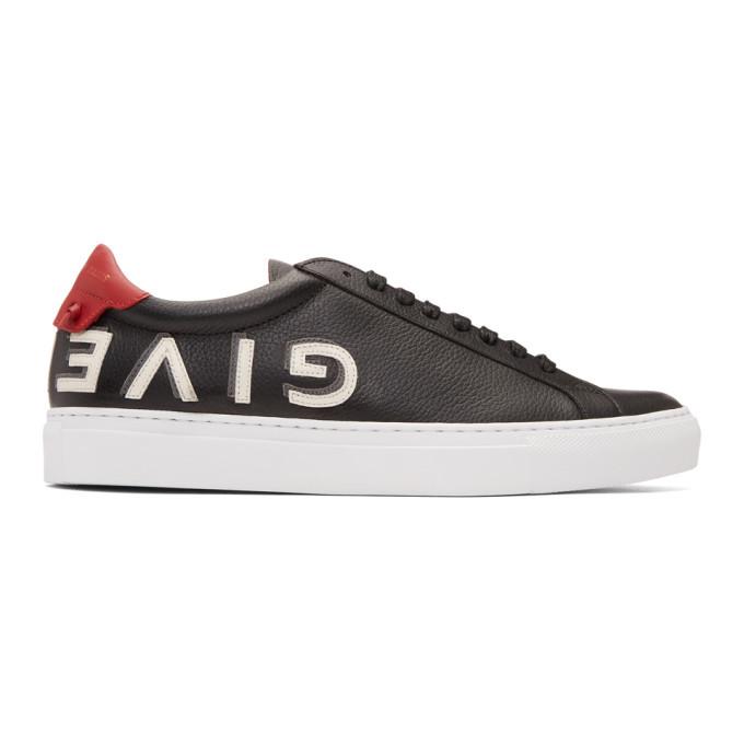 Photo: Givenchy Black Reverse Logo Urban Street Sneakers