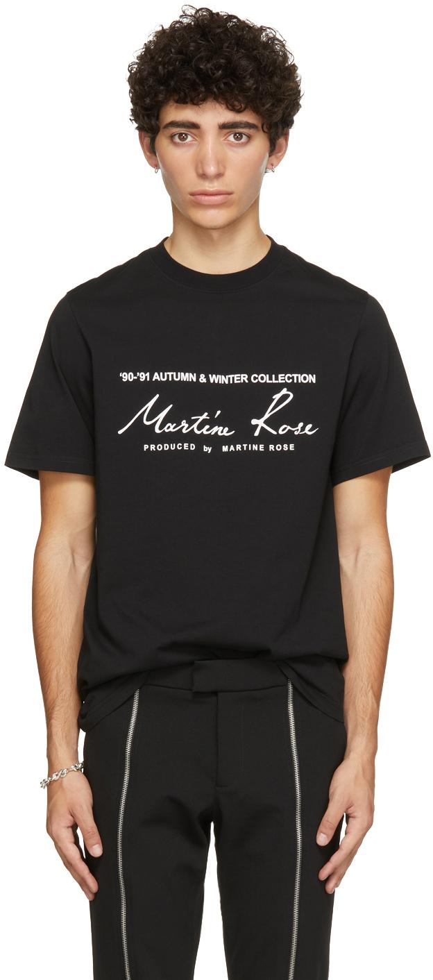 Photo: Martine Rose Black Classic Logo T-Shirt