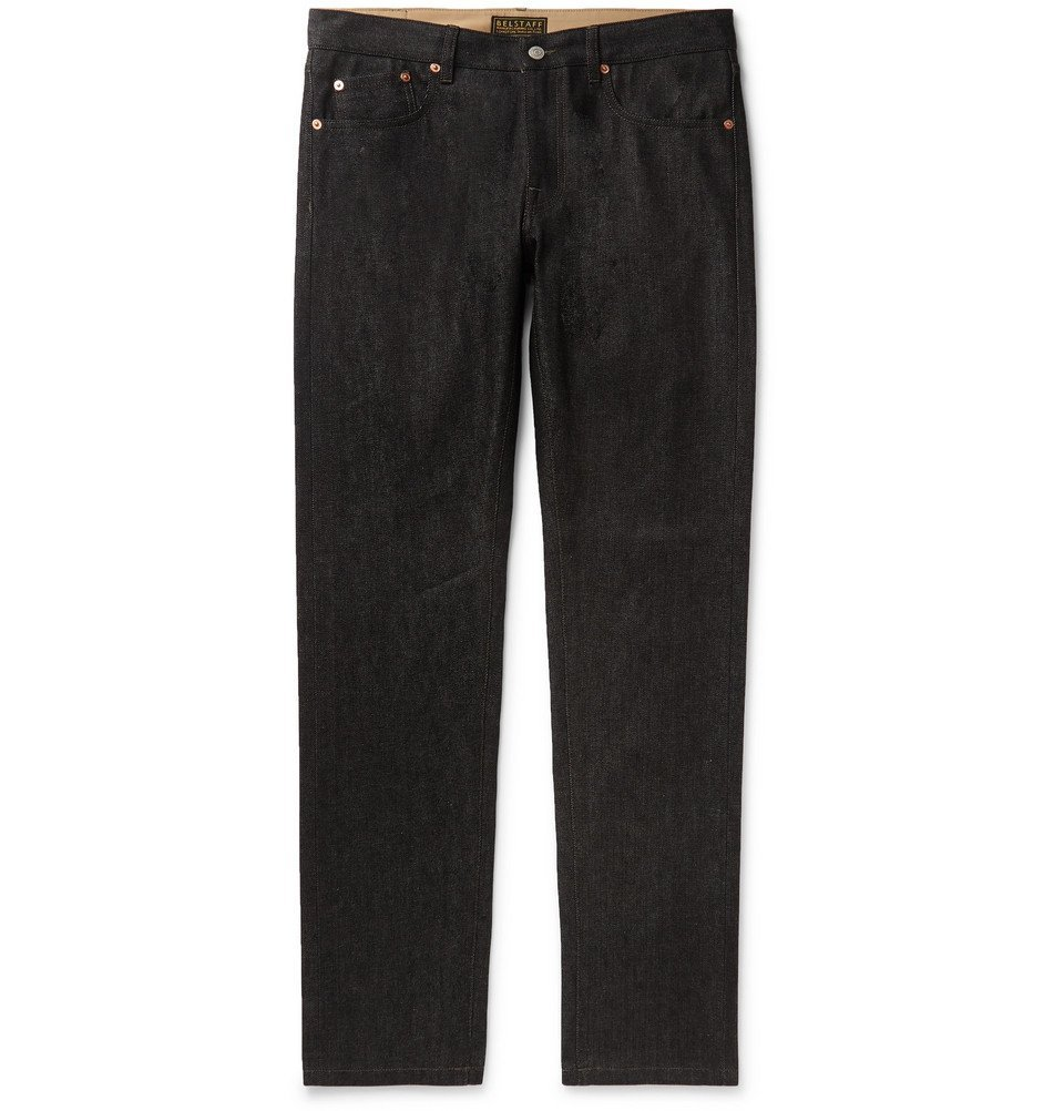 Belstaff - Longton Slim-Fit Selvedge Denim Jeans - Black