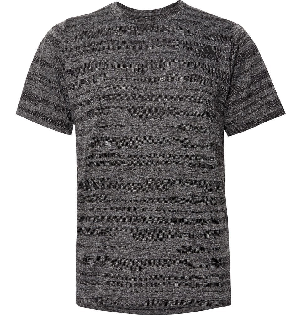 Photo: Adidas Sport - FreeLift Engineered Climalite T-Shirt - Charcoal