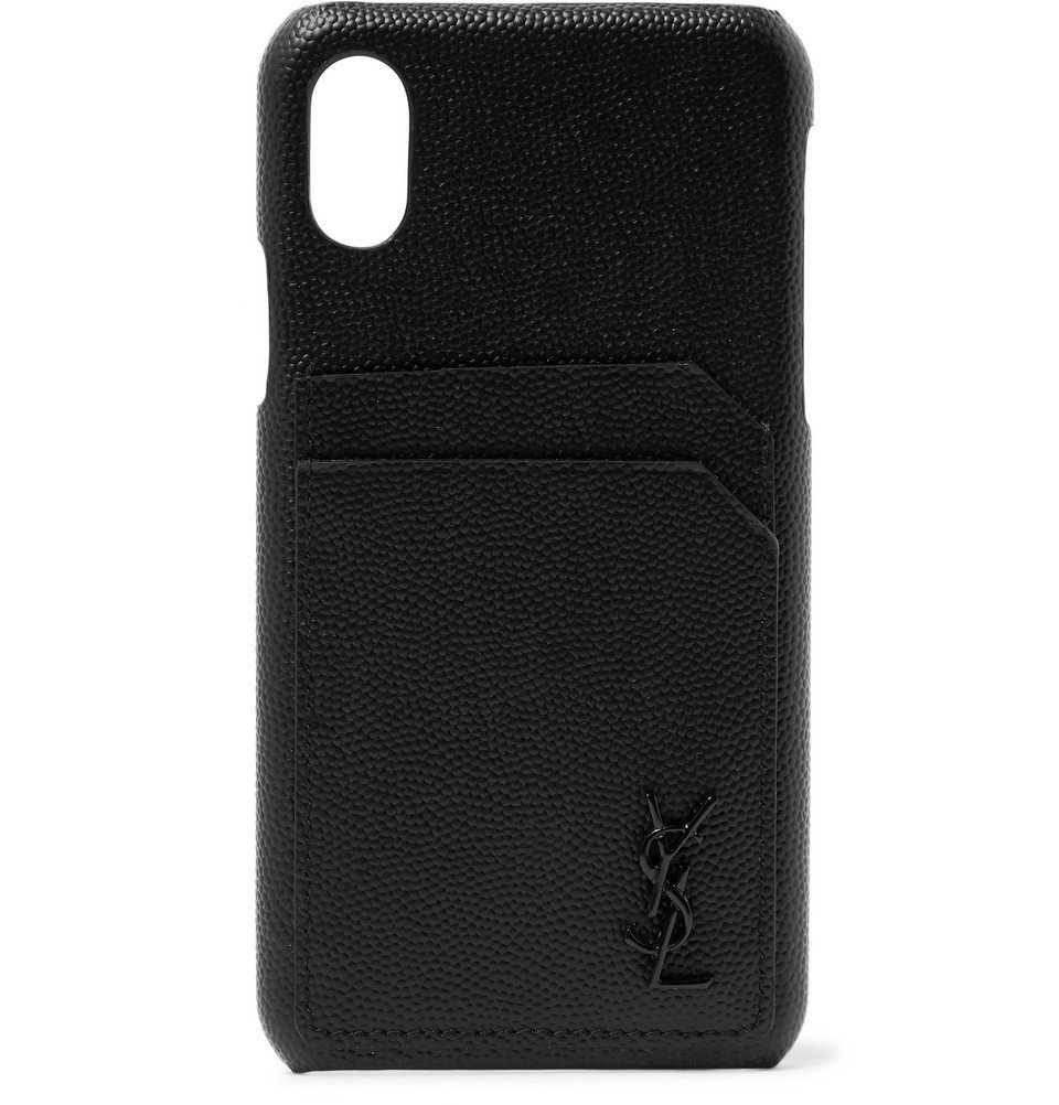 Photo: SAINT LAURENT - Logo-Embossed Leather iPhone X Case - Black