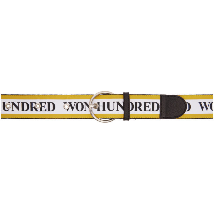 Photo: Won Hundred Yellow and White Lisbon Logo Belt