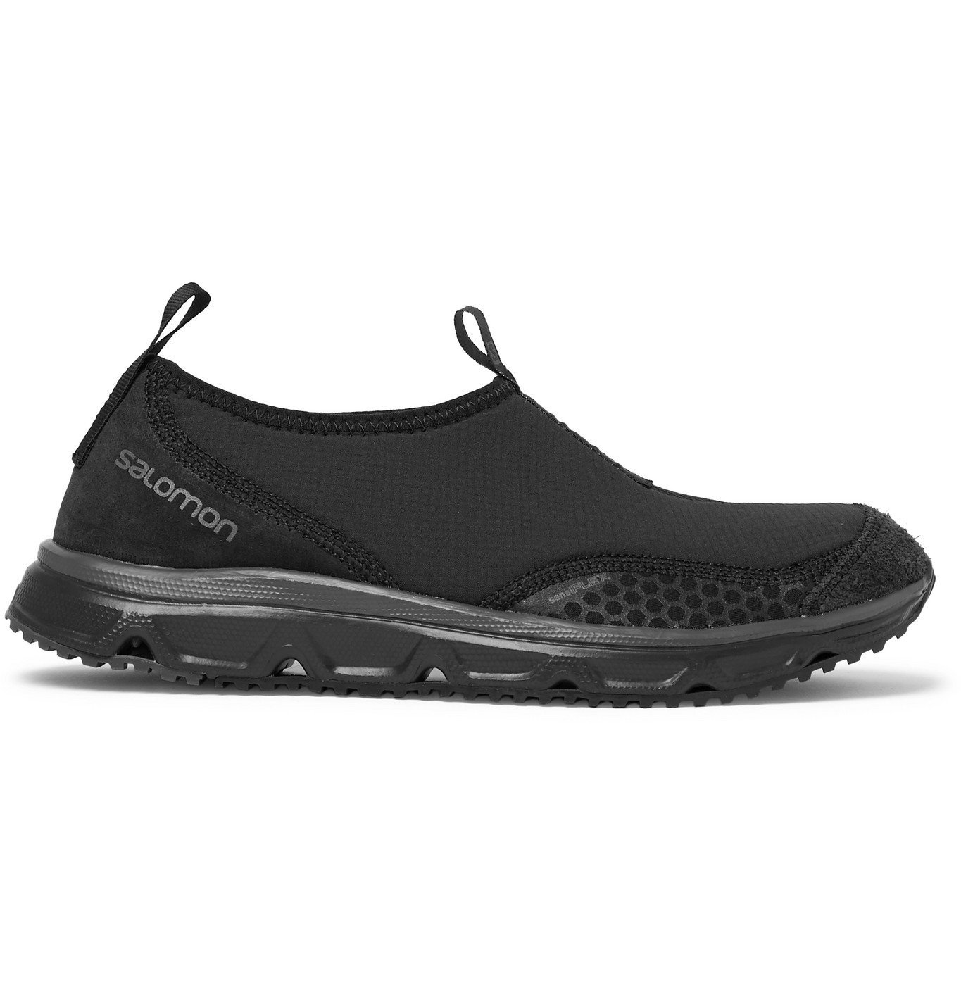 Photo: Salomon - RX Snow Moc Advanced Ripstop, Suede and Rubber Sneakers - Black