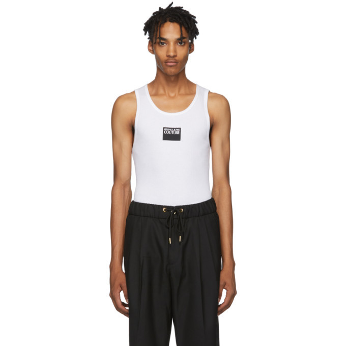 Photo: Versace Jeans Couture White Logo Tank Top