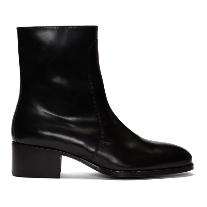 Photo: Lemaire Black Leather Chelsea Boots
