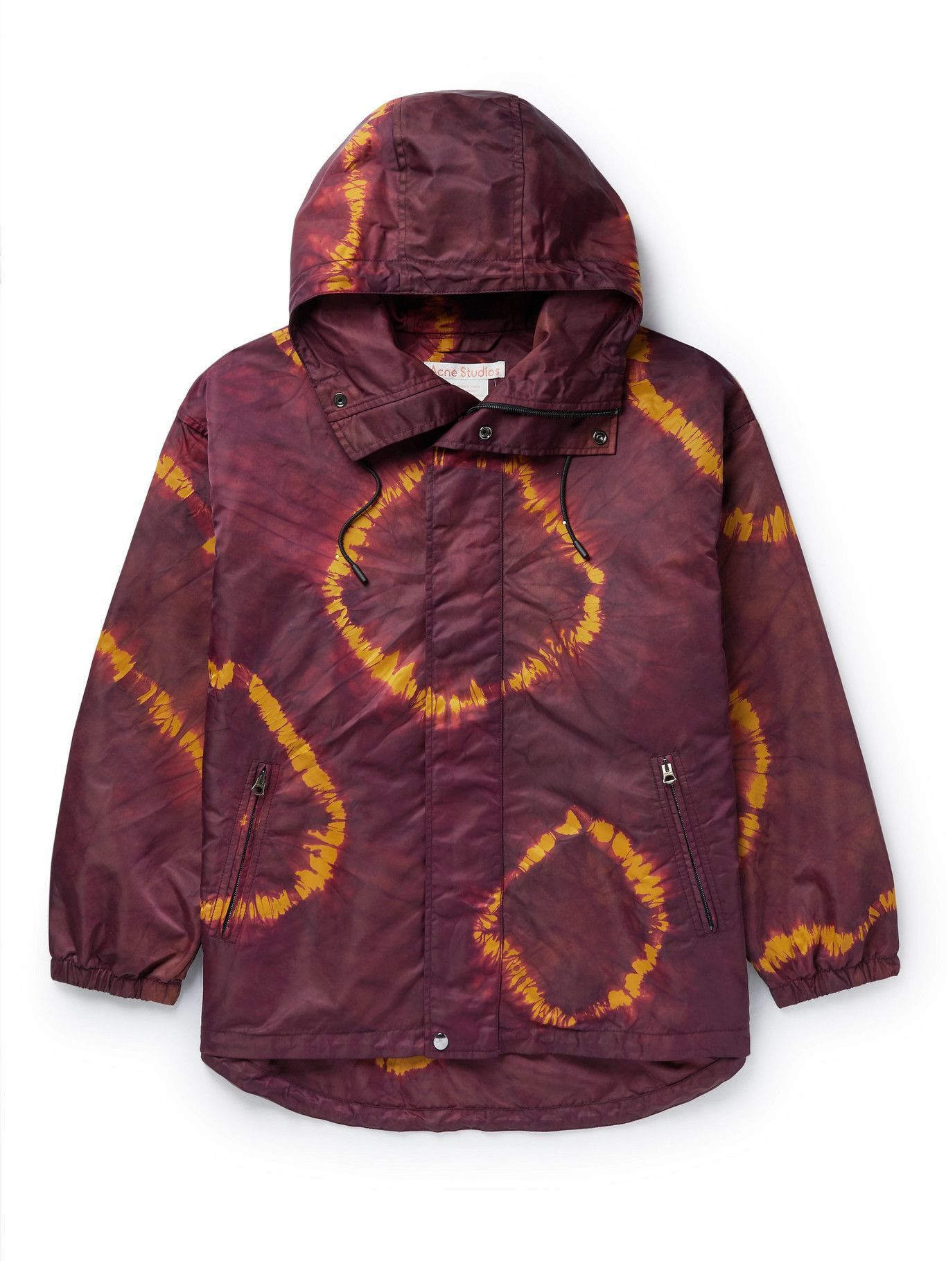 Photo: ACNE STUDIOS - Ossi Tie-Dyed Nylon Hooded Jacket - Brown