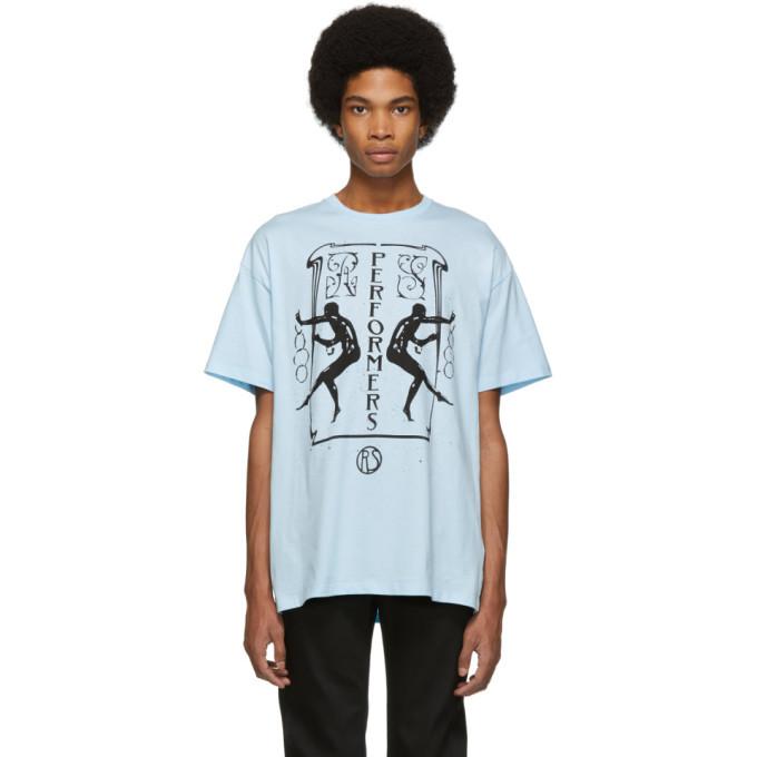 Raf Simons Blue Big Fit Performers T-Shirt