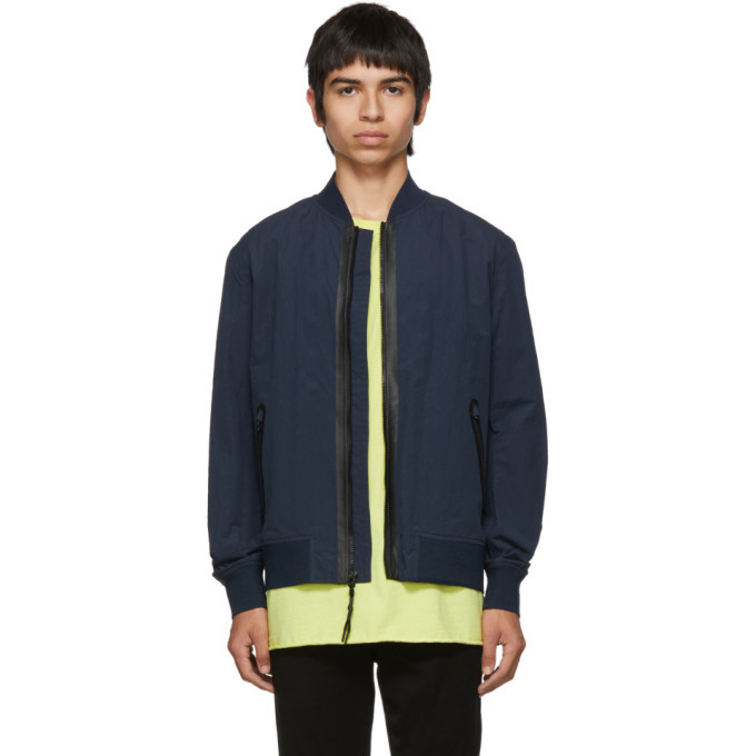 Photo: rag and bone Navy Tech Bomber Jacket