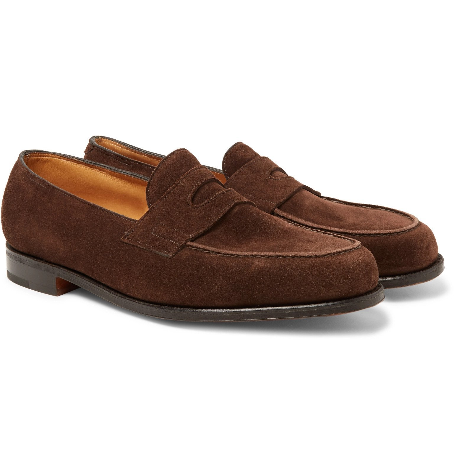 Photo: John Lobb - Lopez Suede Penny Loafers - Brown