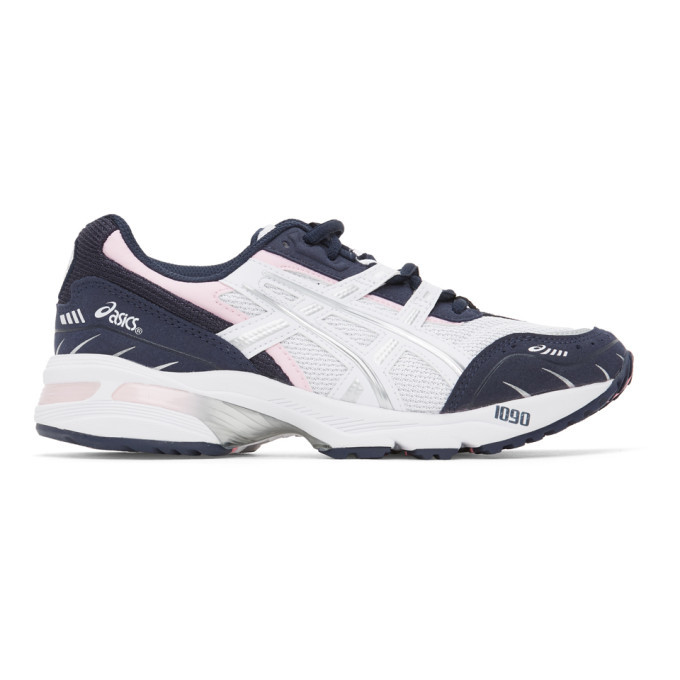 Photo: Asics White and Navy GEL-1090 Sneakers