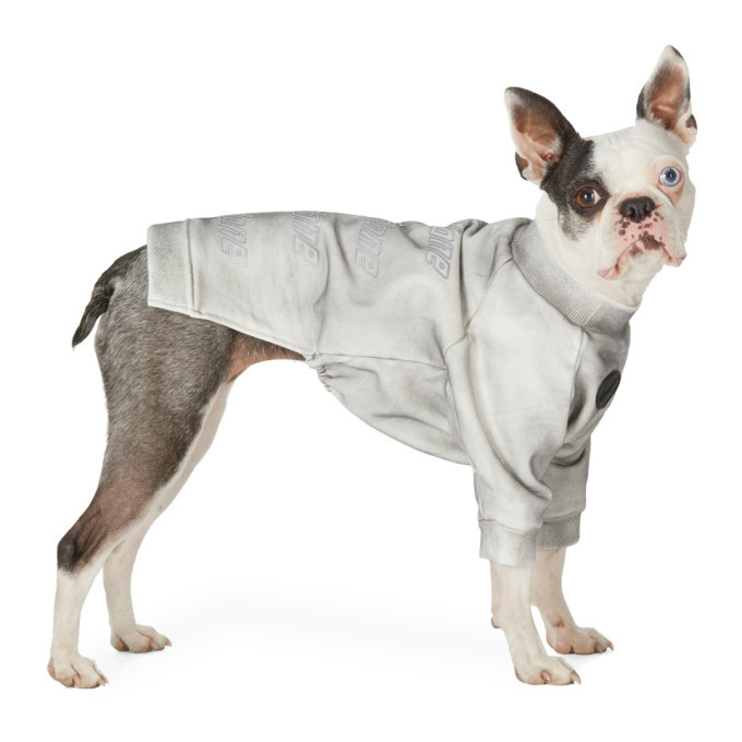 Photo: We11done SSENSE Exclusive Grey Logo Sweatshirt