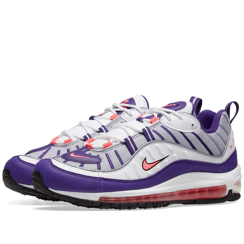 Photo: Nike Air Max 98 W White, Pink, Silver & Black