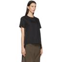 Sacai Black Poplin Zip T-Shirt