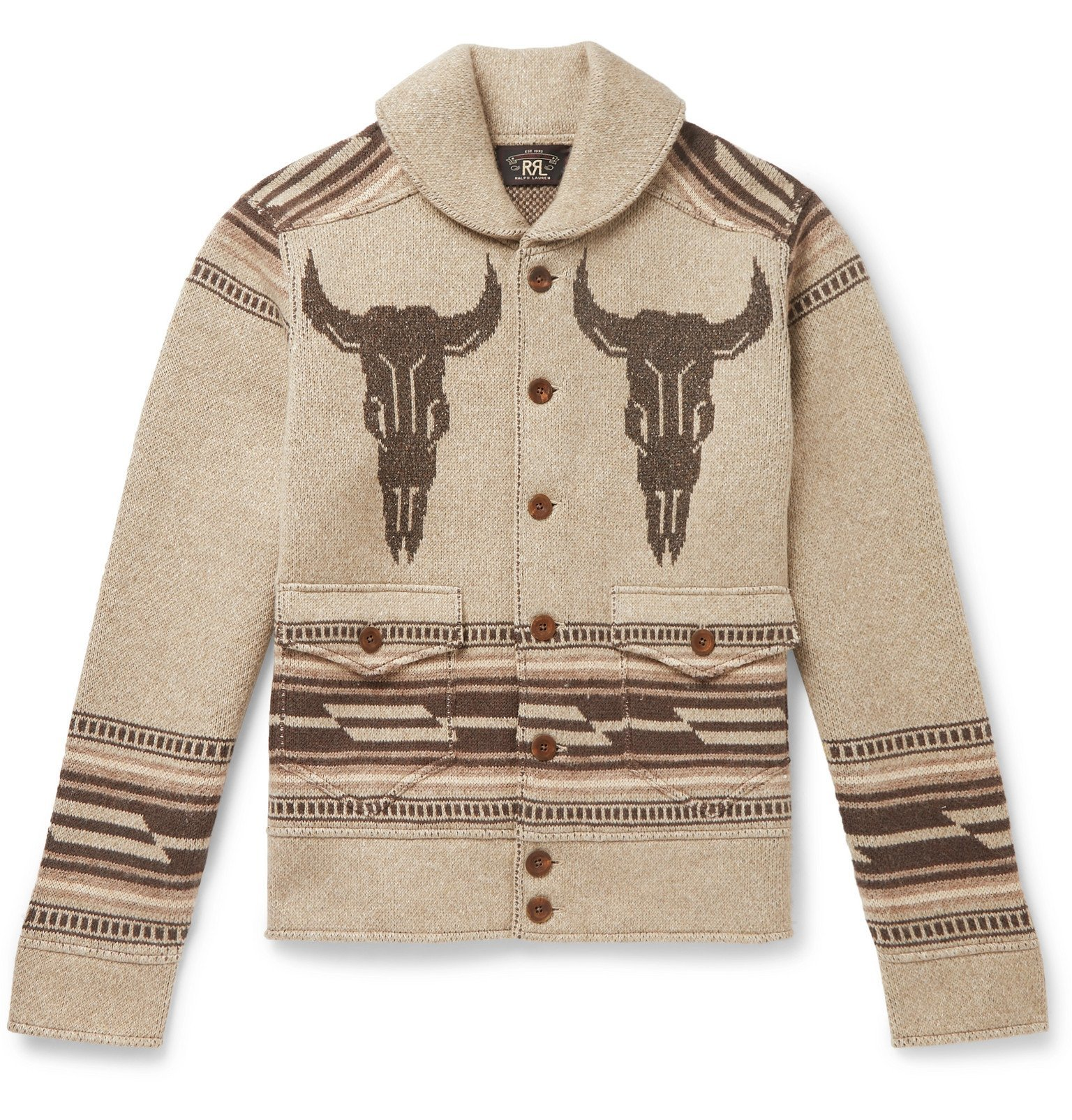 Photo: RRL - Shawl-Collar Jacquard Cardigan - Neutrals