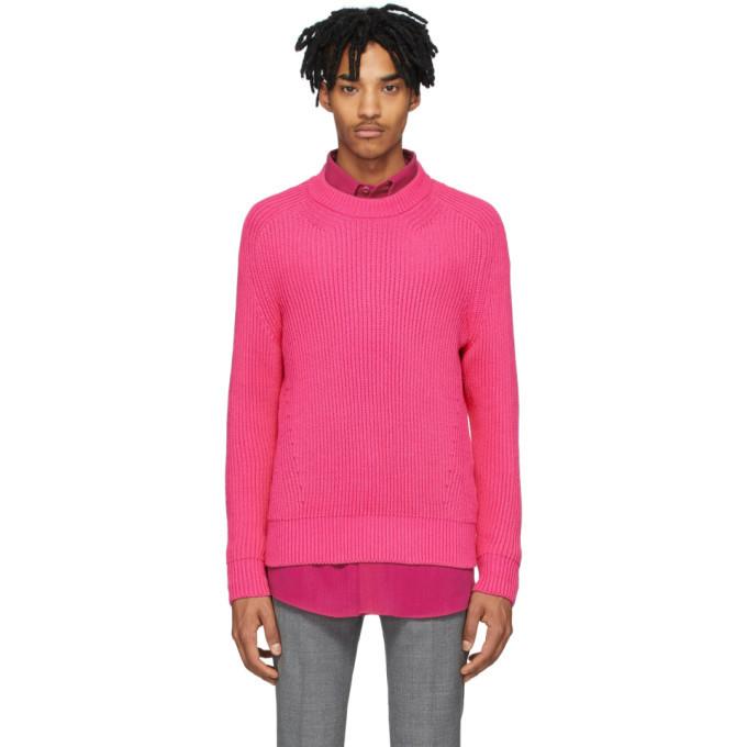 Photo: AMI Alexandre Mattiussi Pink Hammer Sleeve Sweater