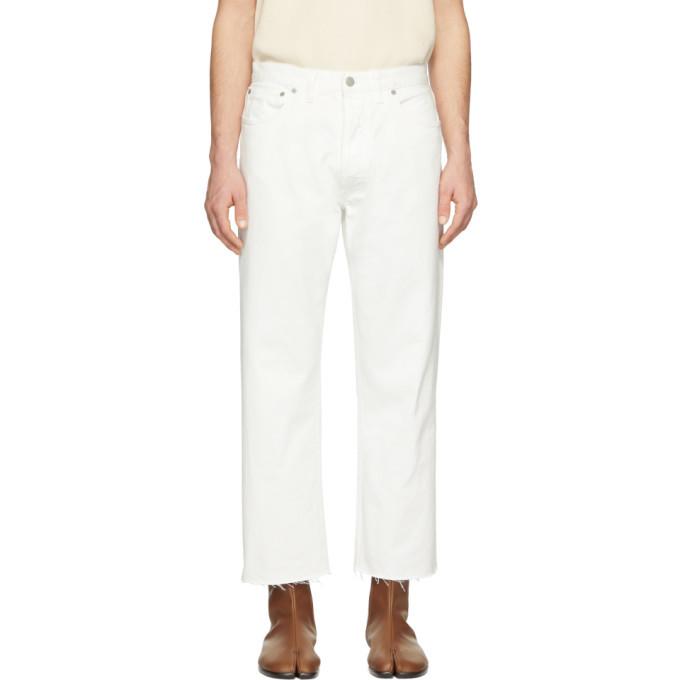 Photo: Maison Margiela White Frayed Jeans