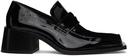 Martine Rose Black Patent Bagleys Loafers
