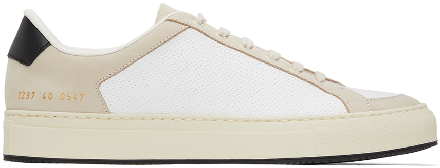 Photo: Common Projects White & Black Retro '70s Low Sneakers