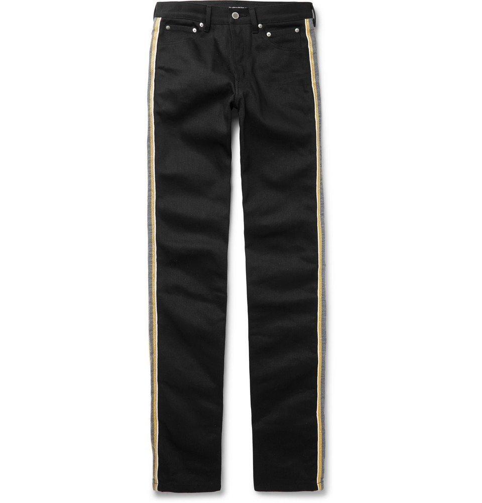 Photo: TAKAHIROMIYASHITA TheSoloist. - Striped Printed Denim Jeans - Black