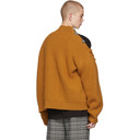 Raf Simons Orange Wool Buttons Turtleneck