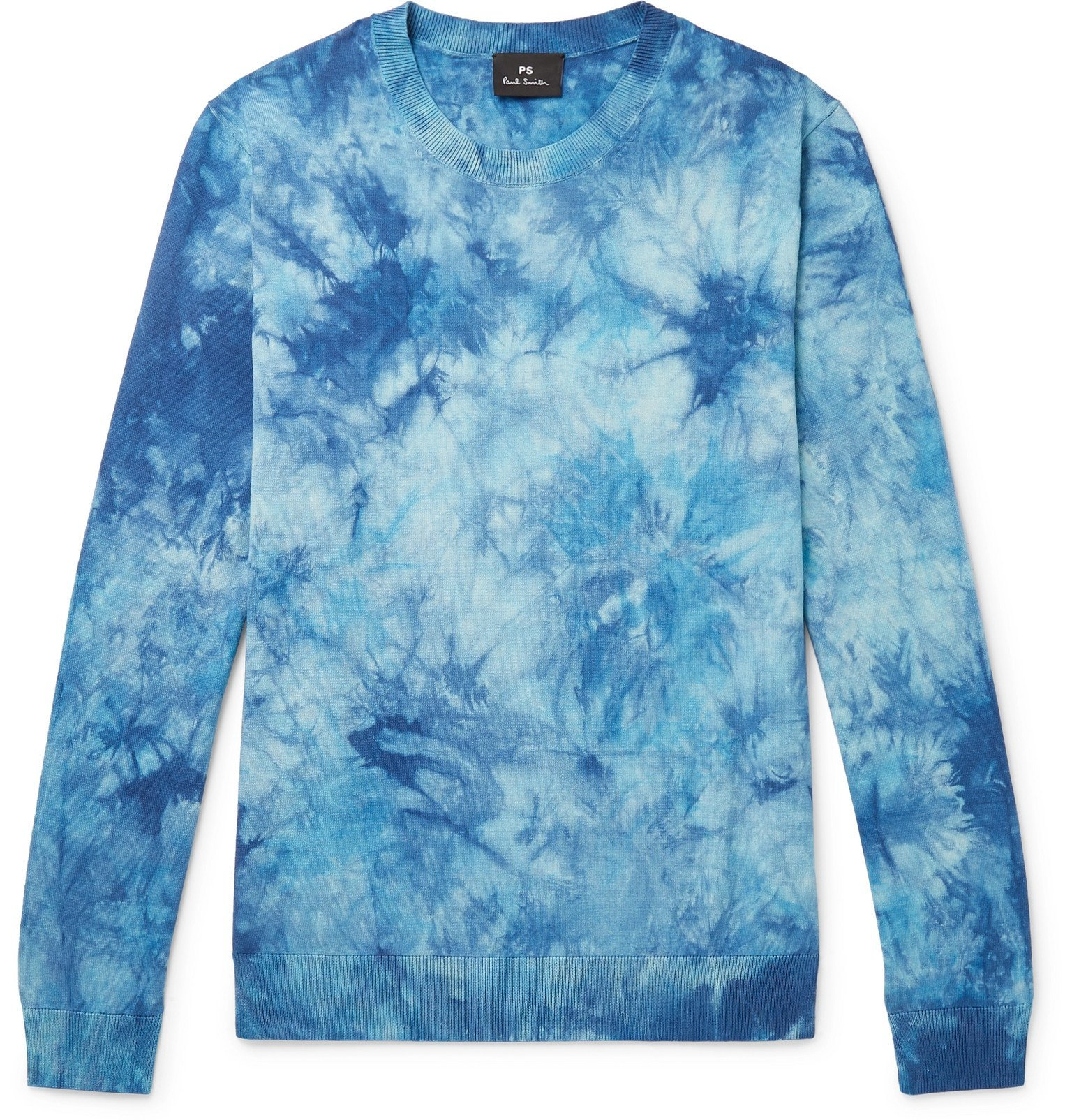 Photo: PS Paul Smith - Tie-Dyed Cotton Sweater - Blue
