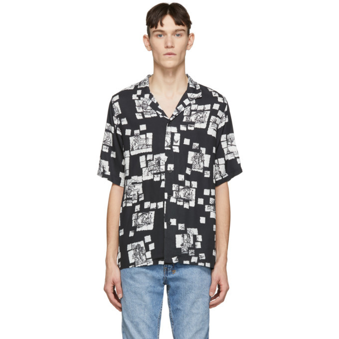 Ksubi Black Zodiac Acid Resort Shirt