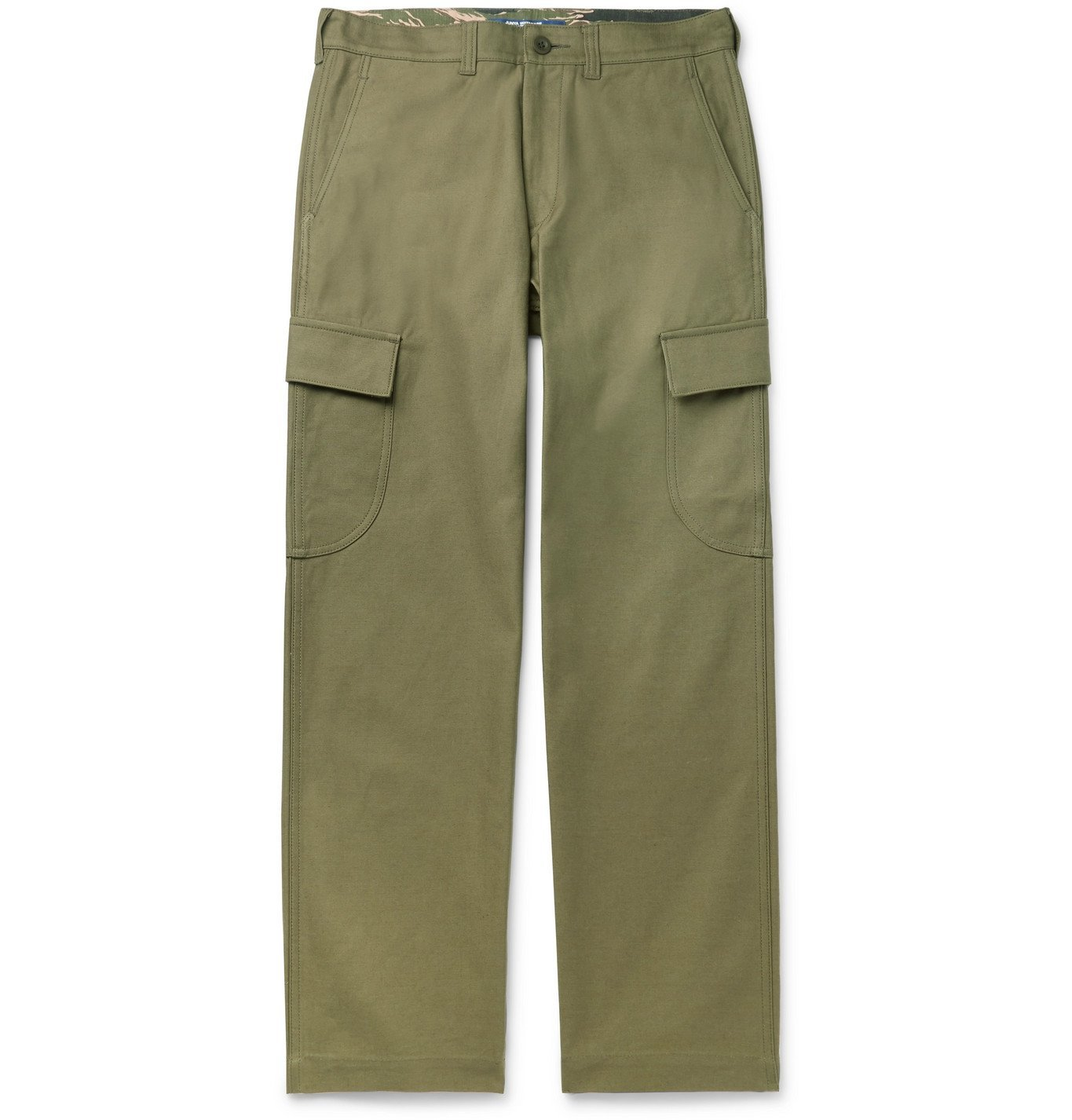 Photo: Junya Watanabe - Cotton-Twill Cargo Trousers - Green