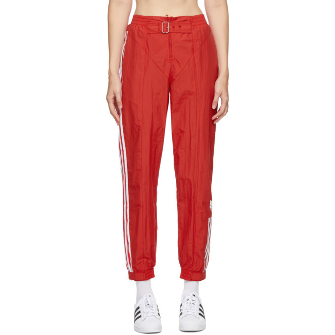 Photo: adidas Originals Red Paolina Russo Edition Striped Track Pants