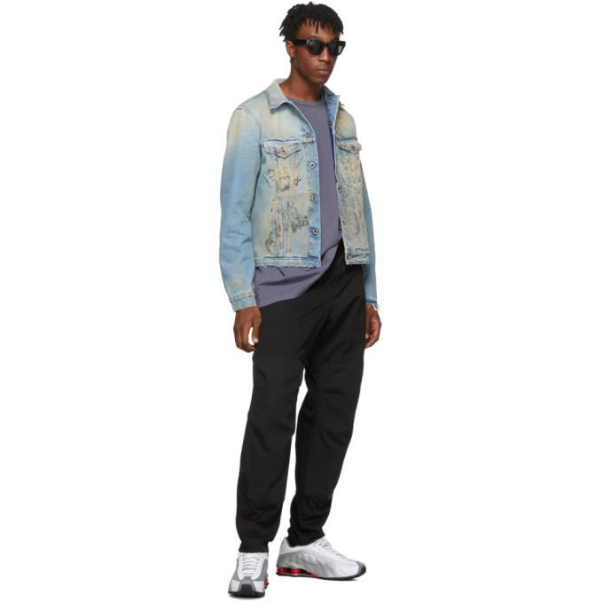 Off-White Blue Wizard Slim Denim Jacket