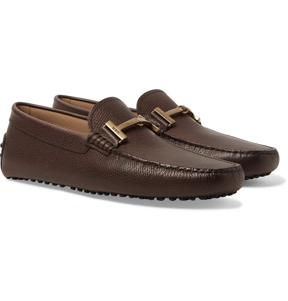 Tod's - Full-Grain Leather Driving Shoes - Men - Brown