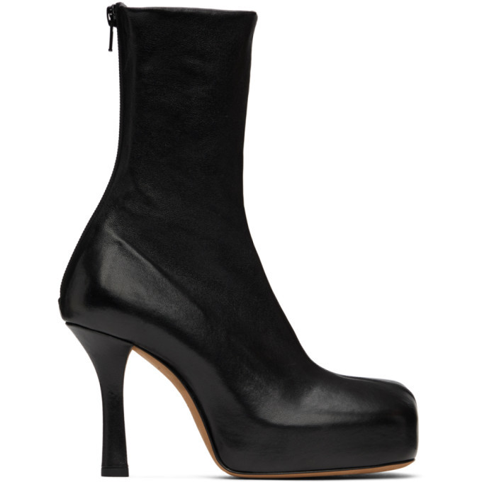 Photo: Bottega Veneta Black Nappa BV Bold Boots
