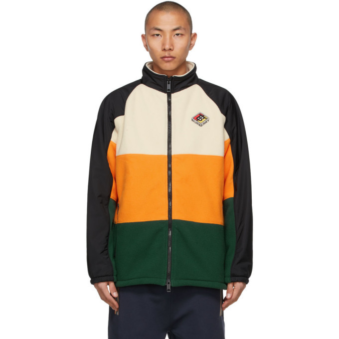 Photo: Burberry Off-White and Orange Ecclesford Jacket