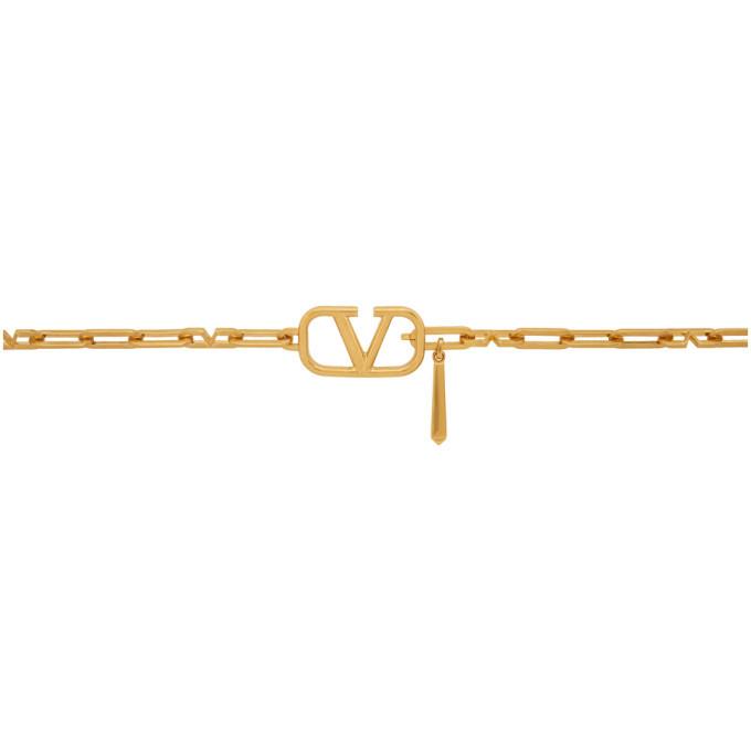 Photo: Valentino Gold Valentino Garavani VLogo Chain Belt