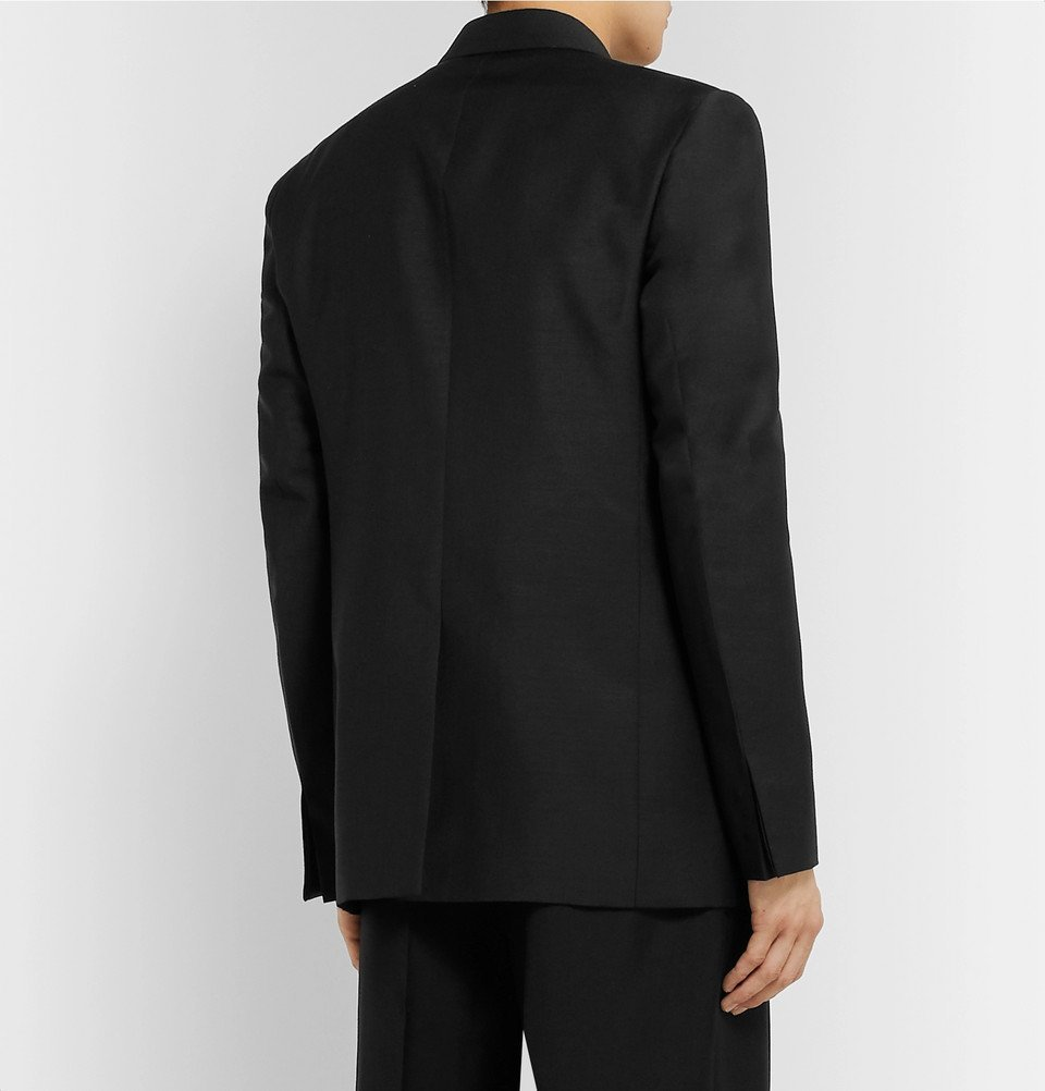 Bottega Veneta - Black Double-Breasted Worsted Mohair and Wool-Blend Blazer - Black