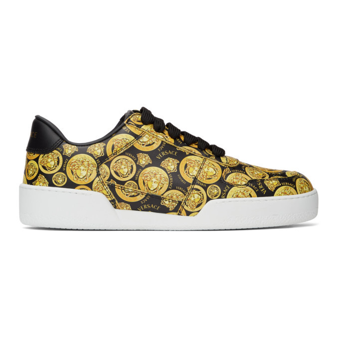 Photo: Versace Black and Yellow Medusa Amplified Ilus Sneakers
