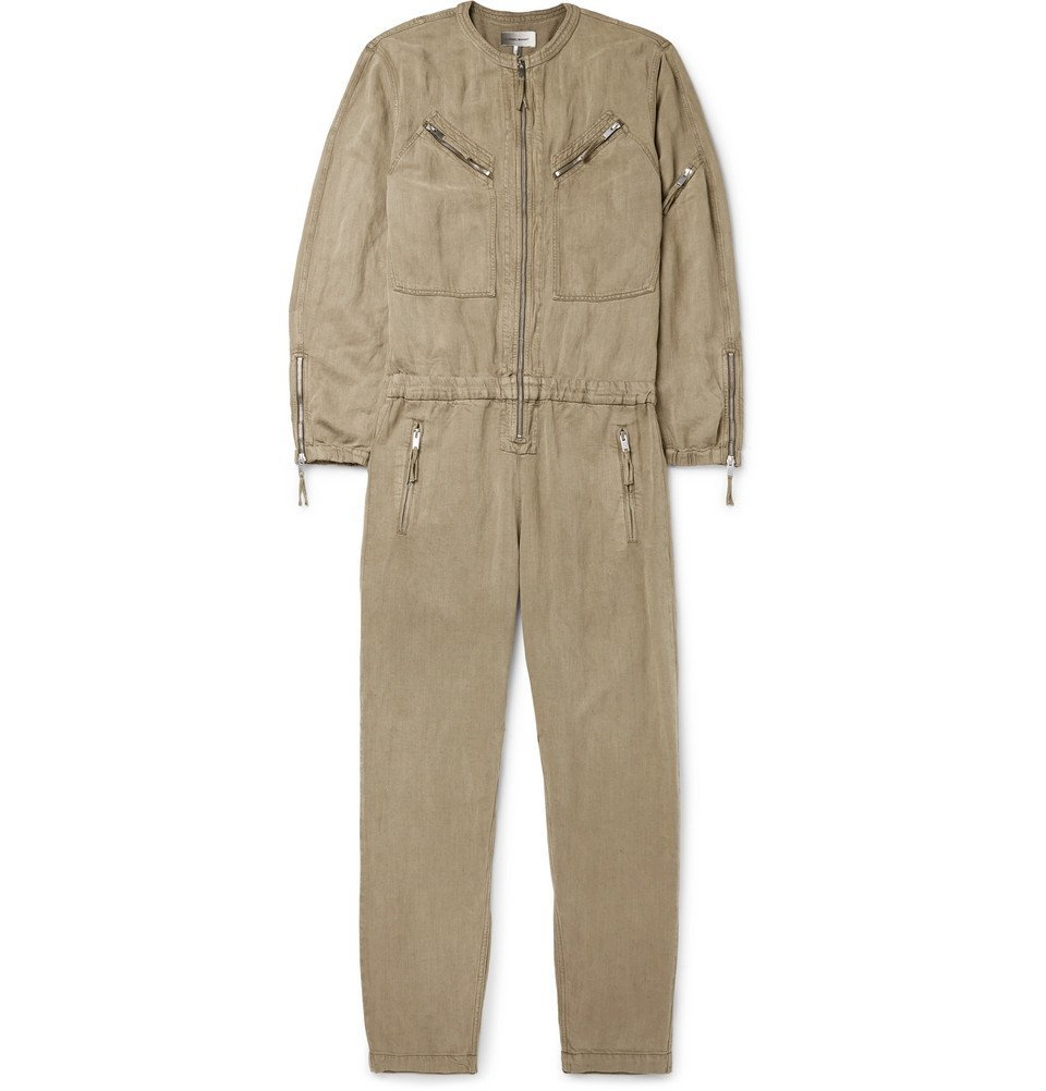 Photo: Isabel Marant - Orley Tencel and Linen-Blend Jumpsuit - Men - Green