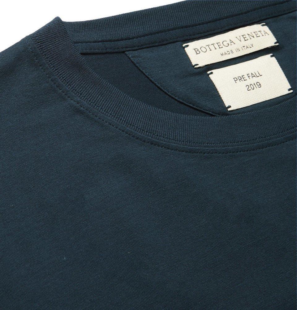 Bottega Veneta - Cotton-Jersey T-Shirt - Blue
