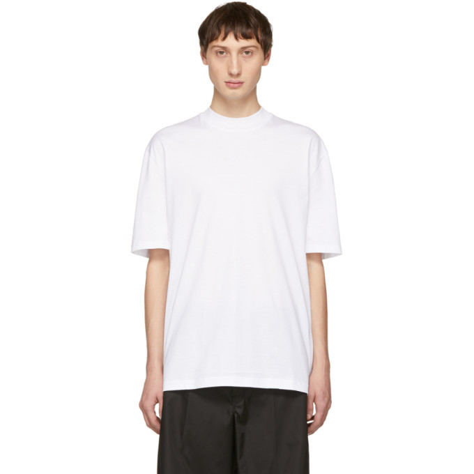 Photo: Lanvin White Mock Neck T-Shirt