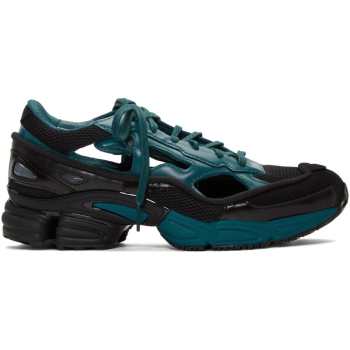 Photo: Raf Simons Blue and Black adidas Originals Limited Edition Replicant Ozweego Sneakers Anniversary Pack