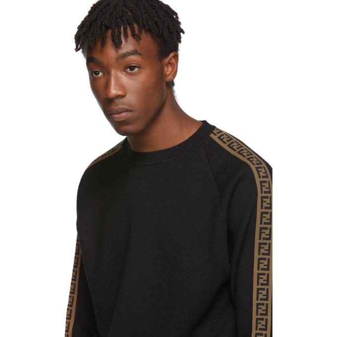 Fendi Black Forever Fendi Side Stripe Sweater