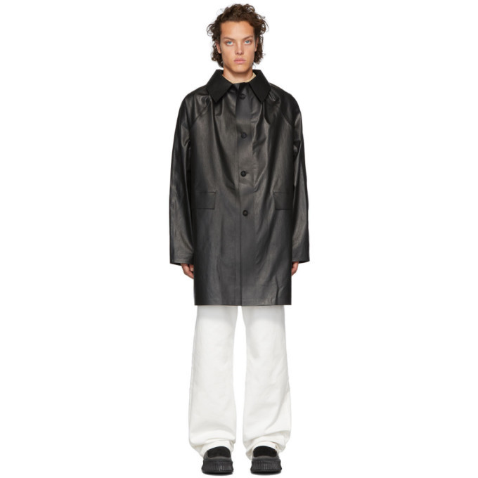 Photo: Kassl Editions Black Above The Knee Oil Coat