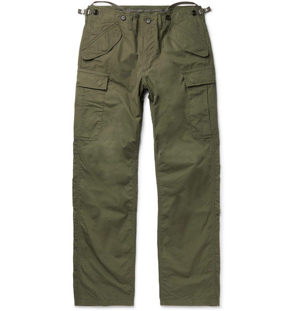 Photo: visvim - Cotton-Blend Cargo Trousers - Green
