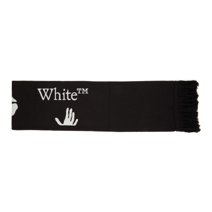 Photo: Off-White Black and White New Logo Scarf